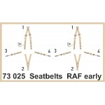 Eduard Seatbelts RAF Early WWII 1/72 Super Fabric