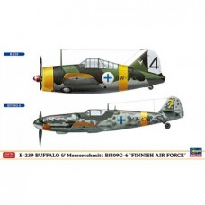 "B-239 Buffalo & Messerschmitt Bf109G-6 ""Finnish Air Force"""
