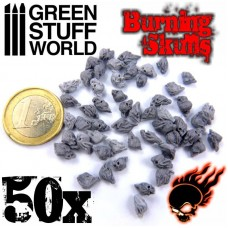 Burning Skulls Resin set 50pc