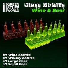 Glass Wine and Beer Bottles