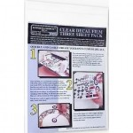 Clear Decal Film Ink Jet. Three sheet pack A4