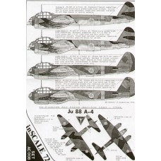 InScale72 decal Junkers Ju-88A-4 in Finnish Air Force Service 1943-44