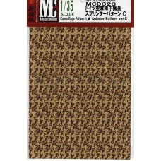 MC decals Camouflage Pattern LW Splinter Pattern ver.C