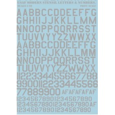 32-002 USAF modern stencil letters and numbers Grey