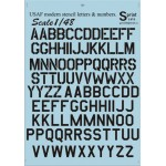 48-005 USAF modern stencil letters and numbers Black