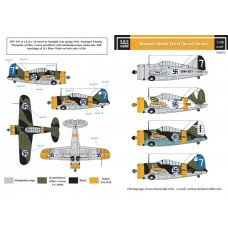 Brewster Model 239 in Finnish Service 1/48 decals