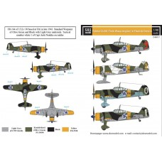 Fokker D.XXI (Twin Wasp Engine) in Finnish Service 1/48 decals