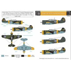 Curtiss Hawk 75A in Finnish Service 1/72 decals