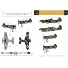 Captured Fighters in Finnish Service Service 1/72 decals