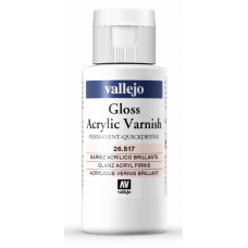 Vallejo 26.517 Gloss Acrylic Varnish 60ml (quick dry)