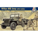 Willys MB Jeep with Trailer