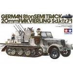 German 8 ton Semitrack 20mm Flakvierling Sd.kfz7/1