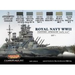 "Lifecolor Acrylic Royal Navy WWII Eastern Approach ""early war"" set 1"