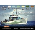 "Lifecolor Acrylic Royal Navy WWII Wester Approach ""late war"" set 2"