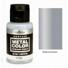 Vallejo Metal Color 77706 White Aluminium