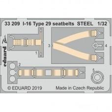 Eduard Seatbelts I-16 Type 29 Steel 1/32.