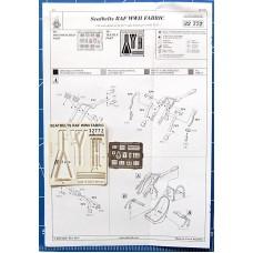 Eduard Seatbelts RAF WWII Fabric 1/32