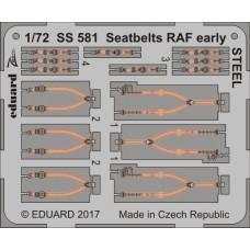Eduard Seatbelts RAF Early Steel 1/72
