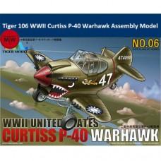 Curtis P-40 Warhawk Fighter Cute Plane kit.