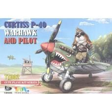 Curtis P-40 Warhawk and Pilot Cute Plane kit.