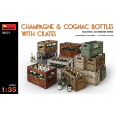 Champagne & Cognac Bottles with Crates 1/35.