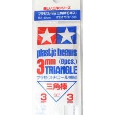 Tamiya Plastic Beams Triangle 3mm (8pcs.)