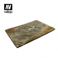 Diorama Base Wooden Airfield Surface  31x21cm.