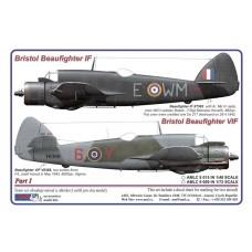 AML Decals 1/72. Bristol Beaufighter  Mk. IF & VIF