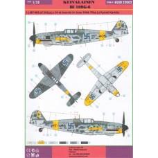 Kuivalainen 1/32 Decals Bf 109G-6 Finnish Aces (summer 1944)