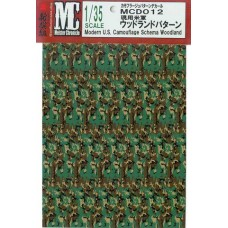 MC decals U.S. Camouflage Schema Woodland