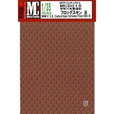 MC decals WWII U.S. Camouflage Schema Frog Skin B