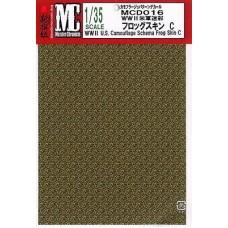 MC decals WWII U.S. Camouflage Schema Frog Skin C