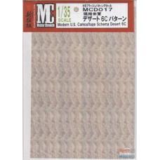MC decals Modern U.S. Camouflage Schema Desert 6C