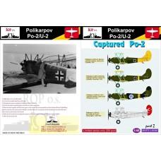 Polikarpov Po-2/U-2. Captured PO-2 1/48 decal