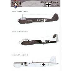 OWL Decals 48005 Die Nachtbomber W.Nr 001
