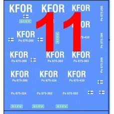 Finnish KFOR decals 1/72