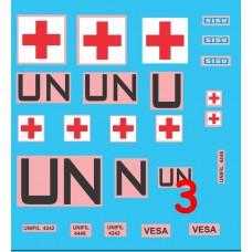 Finnish UN decals 1/72