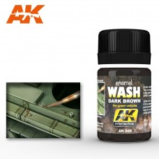 AK 045 Wash Dark Brown for Green Vehicles
