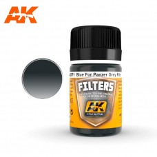 AK 071 Filters Blue For Panzer Grey