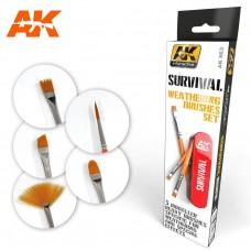 AK 633 Survival Weathering Brush Set