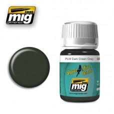 AMIG Panel Line Wash 1608 Dark Green Grey