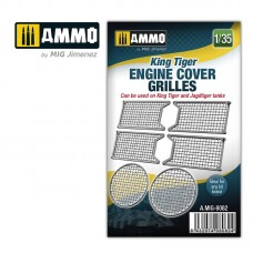 King Tiger Engine Cover Grilles 1/35