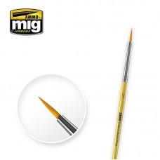 Amig 8612 2/0 Synthetic Round Brush