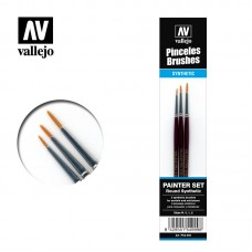 Vallejo P54.999. Synthetic Round Brush set N.0, 1, 2