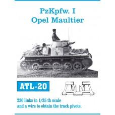 Friulmodel PzKpfw. I, Opel Maultier track