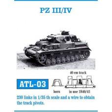 Friulmodel PZ III/IV 1940-1941 track