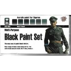 Andrea Color ACS-002 Multi-Purpose Black Paint Set