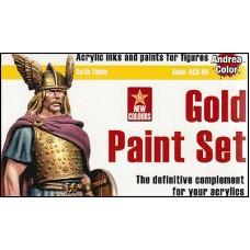 Andrea Color ACS-008 Multi-Purpose Gold Paint Set
